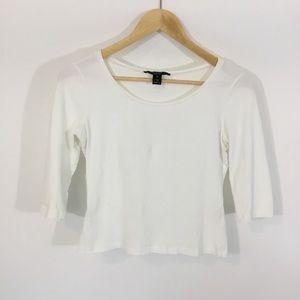 MAXMARA | White Scoop Neck Knit Top